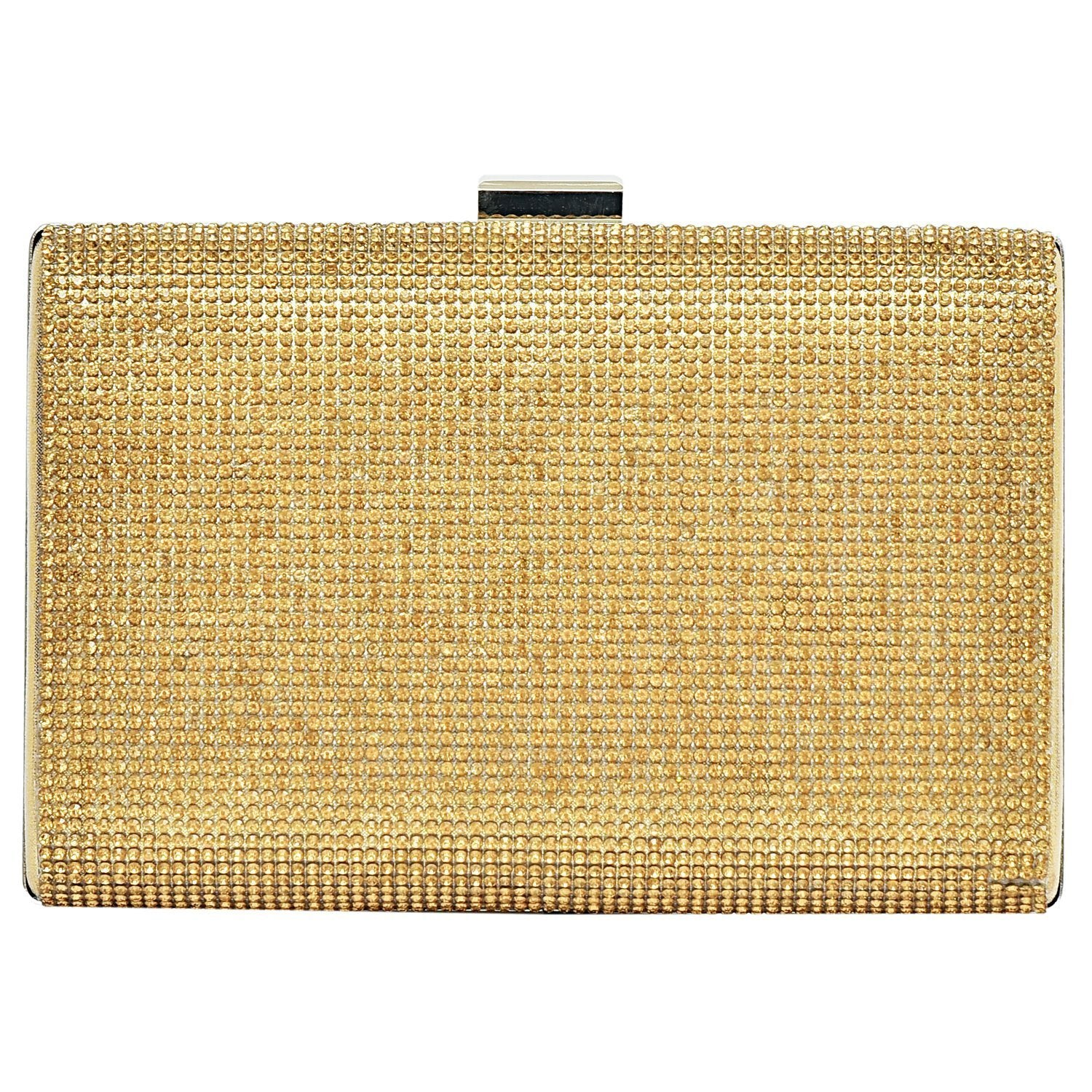 Big Box Party wear Clutch (Gold) - Bagaholics Gift