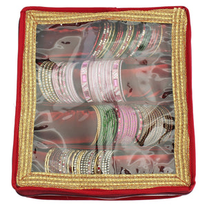 Maroon Bangle Box (4 Rods) - Bagaholics Gift