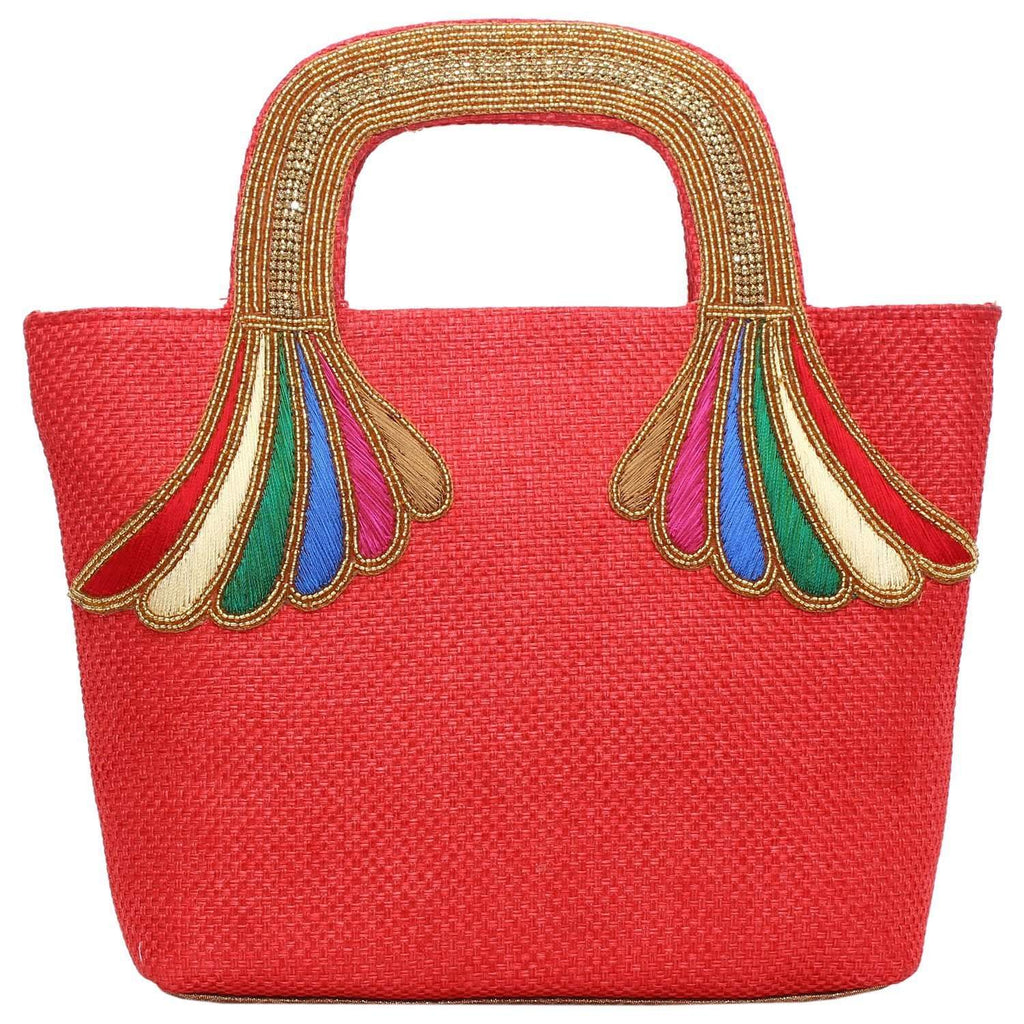 Ethnic Embroidery Handbag (Red) - Bagaholics Gift