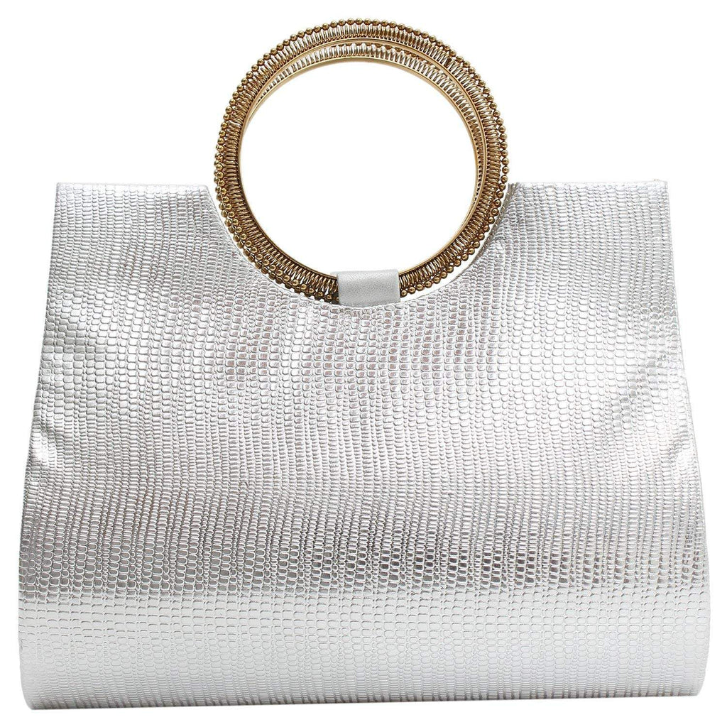 Ethnic Ladies Sling Clutches Side Bag  (Silver) - Bagaholics Gift