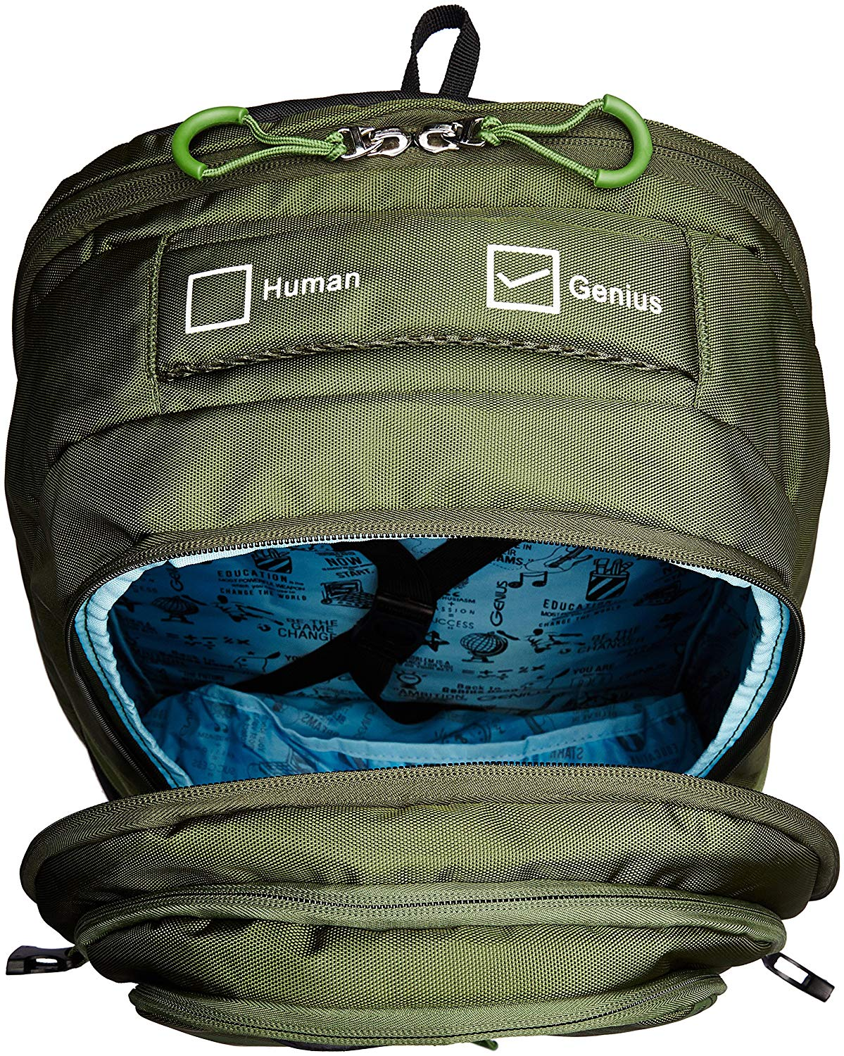 Genius Nylon 39 Ltrs Green Trekking Backpack (Inferno Green 52) - Bagaholics Gift