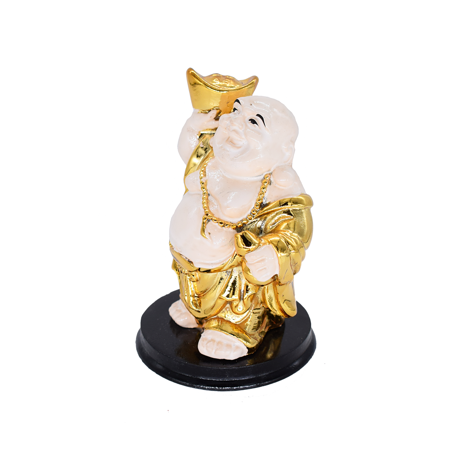 Feng Shui Chinese Happy Laughing Buddha Figurine Statue Gift Showpiece (9.5 CM) - Bagaholics Gift