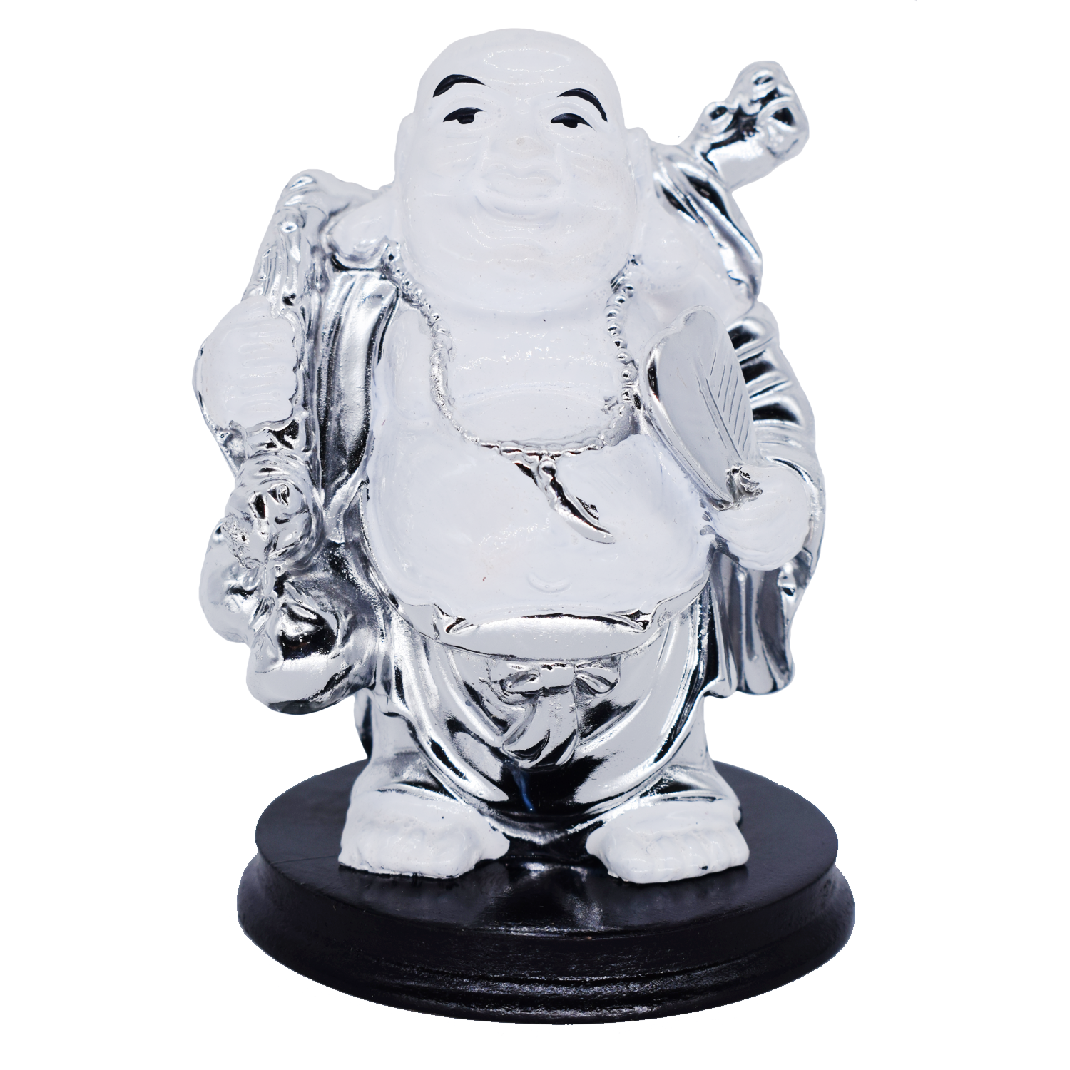 Feng Shui Chinese Happy Laughing Buddha Figurine Statue Gift Showpiece (9 CM) - Bagaholics Gift