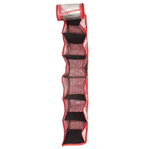 6 Pair Shoe Cover, Shoe Pouch, Hanging Shoe Rack (Red) - Bagaholics Gift