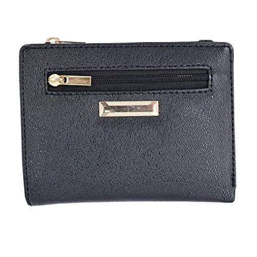 Genuine Leather Coin Purse Mini Money Wallet (Black) - Bagaholics Gift