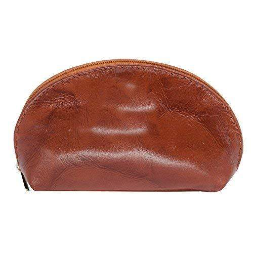 Genuine Leather Zipper Coin Purse Mini Money Wallet Travel Portable Purse Gift For Girls (Brown) - Bagaholics Gift