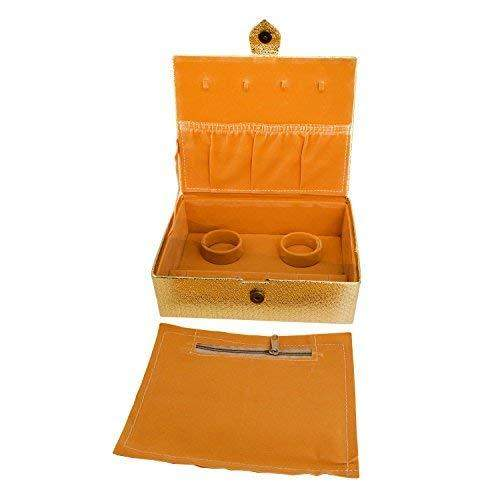 Multipurpose Makeup Cosmetic Organizer case Vanity Box (Gold) - Bagaholics Gift