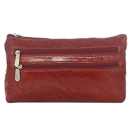 Long Leather Clutch Spacious Girls Wallet Ladies Purse Hand Purse Gift for Girls/Ladies/Women (Maroon) - Bagaholics Gift