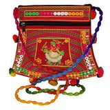 Rajasthani Jaipuri Art Embroidered Handicraft Traditional Sling Bag (Red) - Bagaholics Gift