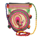 Jaipuri Art HandiCraft Traditional Sling Bag (Turquoise) - Bagaholics Gift