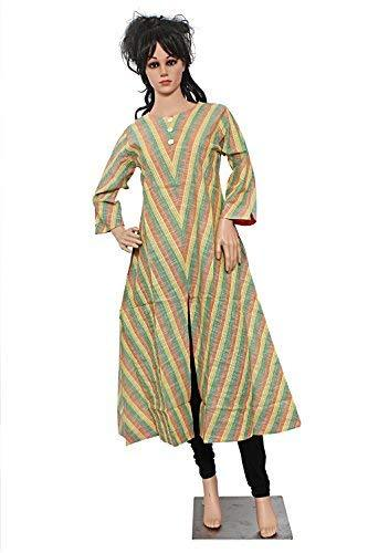 A-Line Printed Casual Cotton Kurti for Women's Multicolor - Bagaholics Gift
