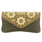 Ethnic Beads and Pearls Silk Clutch (Black) - Bagaholics Gift