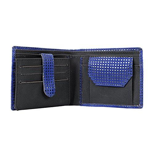 Men's Stylish PU Leather Wallet (Blue) - Bagaholics Gift