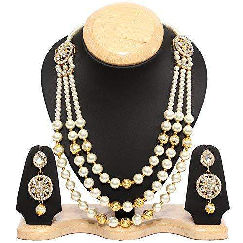 Multi Strand Necklace Set/Jewellery Set with Earrings for Women (JR3) - Bagaholics Gift