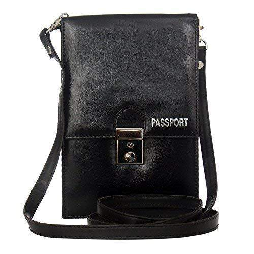 Multipurpose Unisex Leather Passport Holder (Black) - Bagaholics Gift