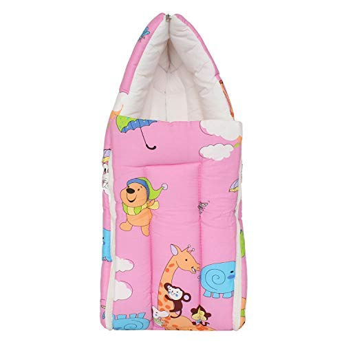 online store 2ca2d 03ff9 Baby Cotton Bed Cum Bedding Set Sleeping Bag Baby Carry Bag (Pink)
