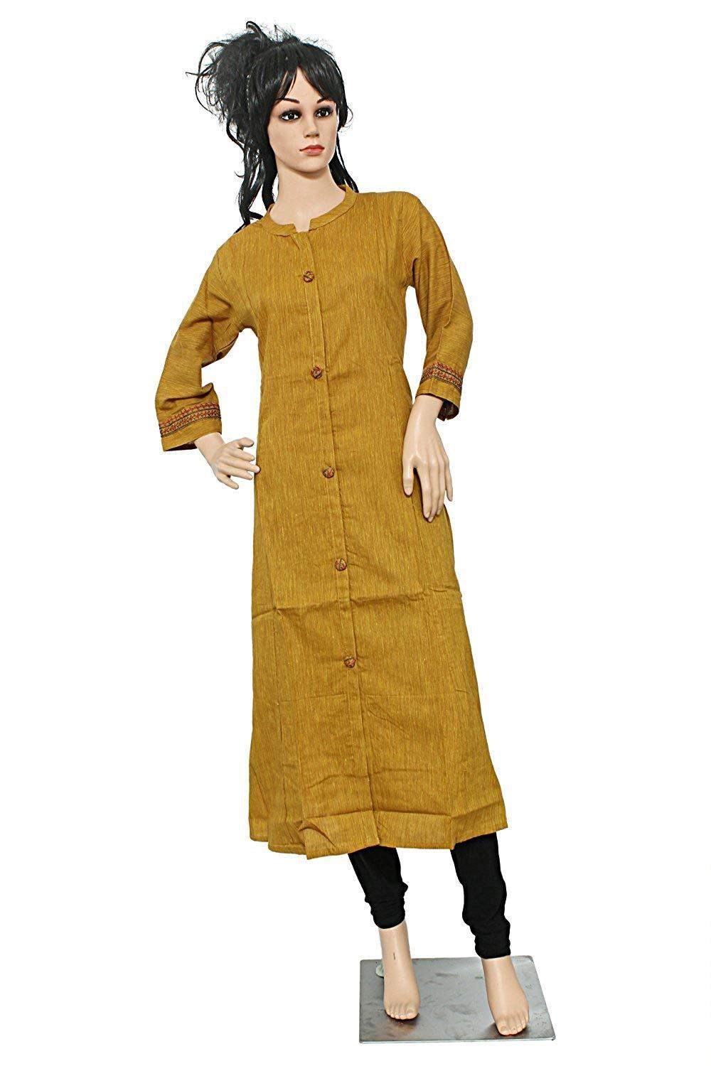 Plain/Solid Casual Cotton Kurti for Women's - Bagaholics Gift