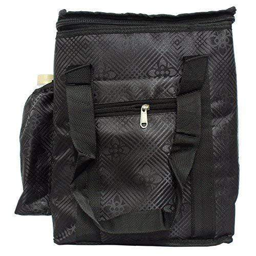 Lunch Box Cover/Lunch Bag/Tiffin Cover  (Black (Large)) - Bagaholics Gift