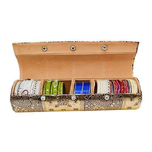 Golden Hard Paper Board Round Shape Bangle Box Cosmetic Box (30 CM) - Bagaholics Gift