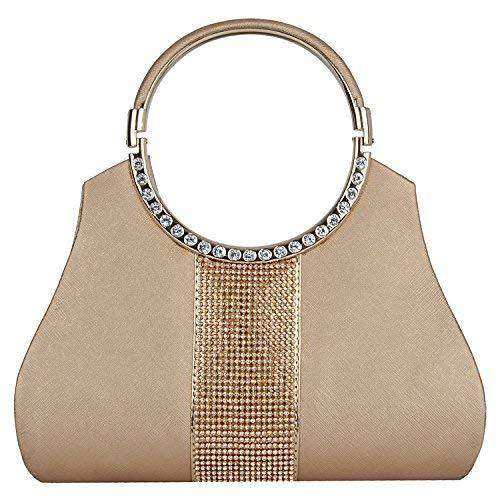 Diamond Studded Party wear Clutch (Gold) - Bagaholics Gift