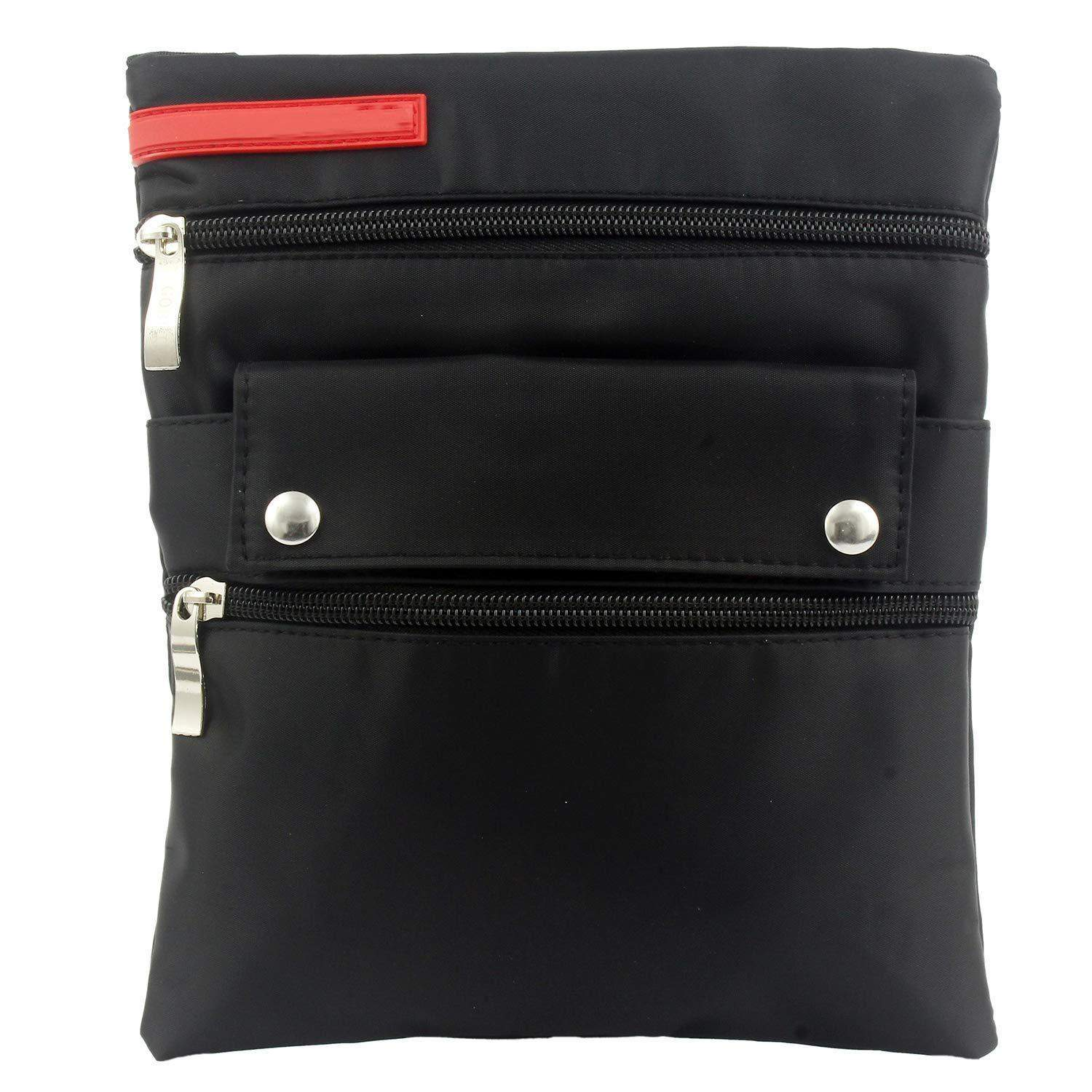 Stylish trendy Leather Sling Bag Side Bag (Black) - Bagaholics Gift