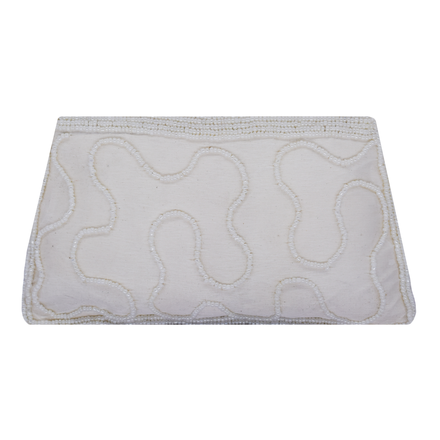 Ethnic Beads & Pearl Clutch Diamond Studded Clutch (White) - Bagaholics Gift