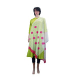White Net Printed Dupatta