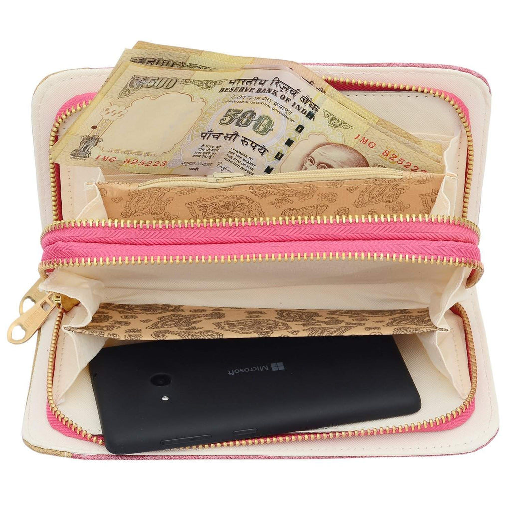 Double Decker Wallet (Pink) - Bagaholics Gift