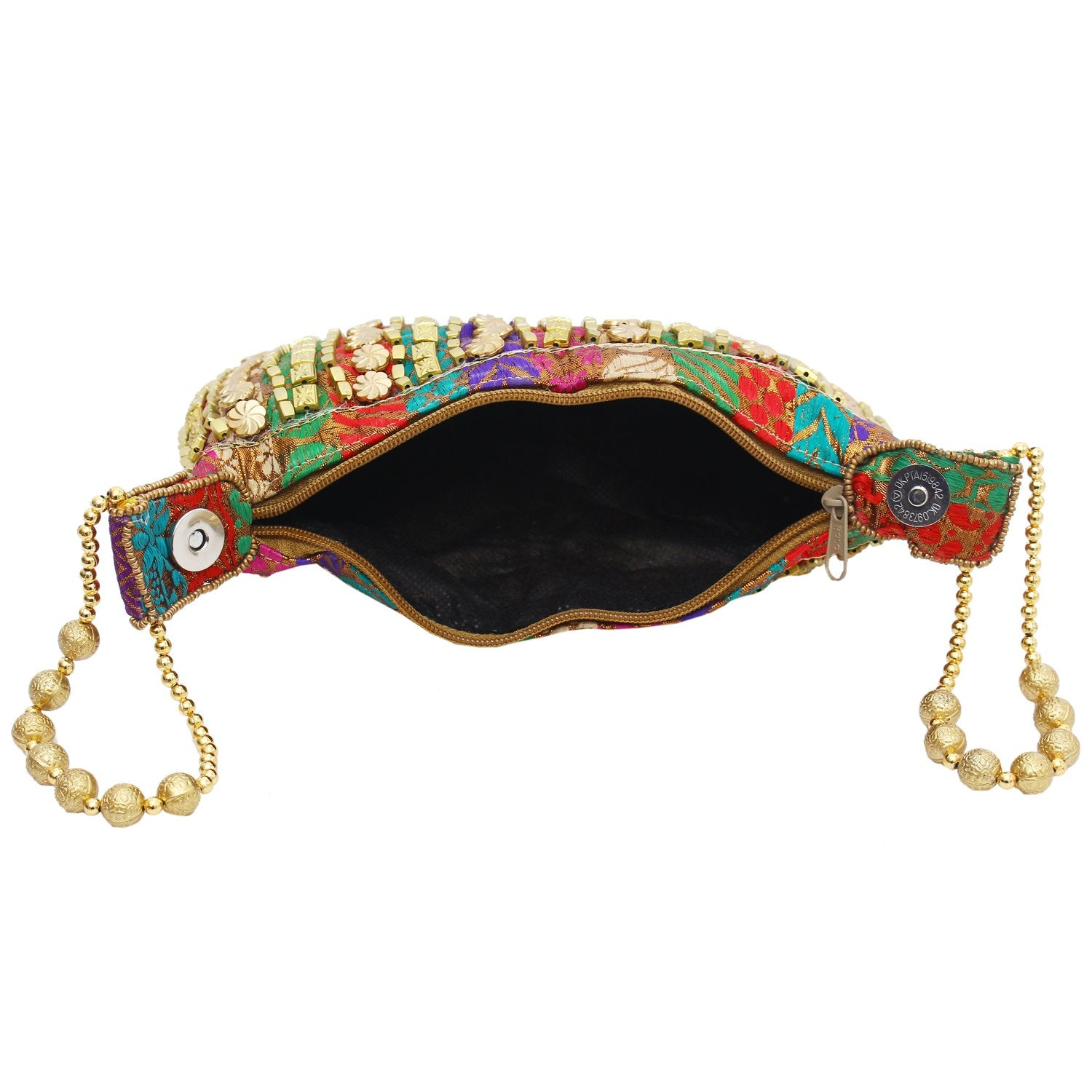 Ethnic Silk Beaded Batwa Potli Pouch (Multicolor) - Bagaholics Gift