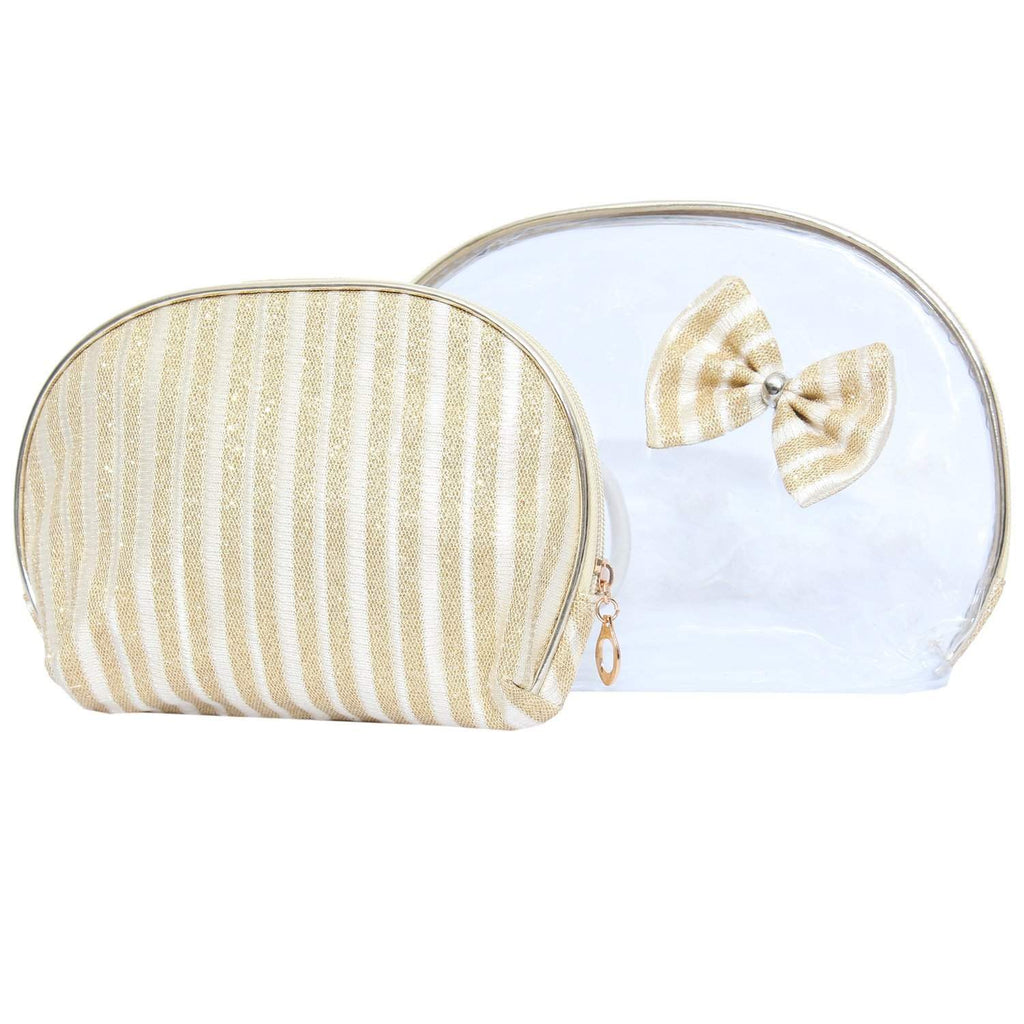 Multipurpose Makeup Pouch (White) (Set of 2) - Bagaholics Gift