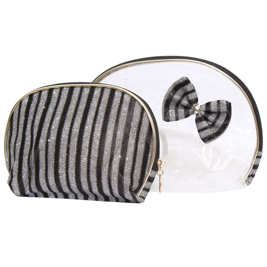 Multipurpose Black Makeup pouch (Set of 2) - Bagaholics Gift