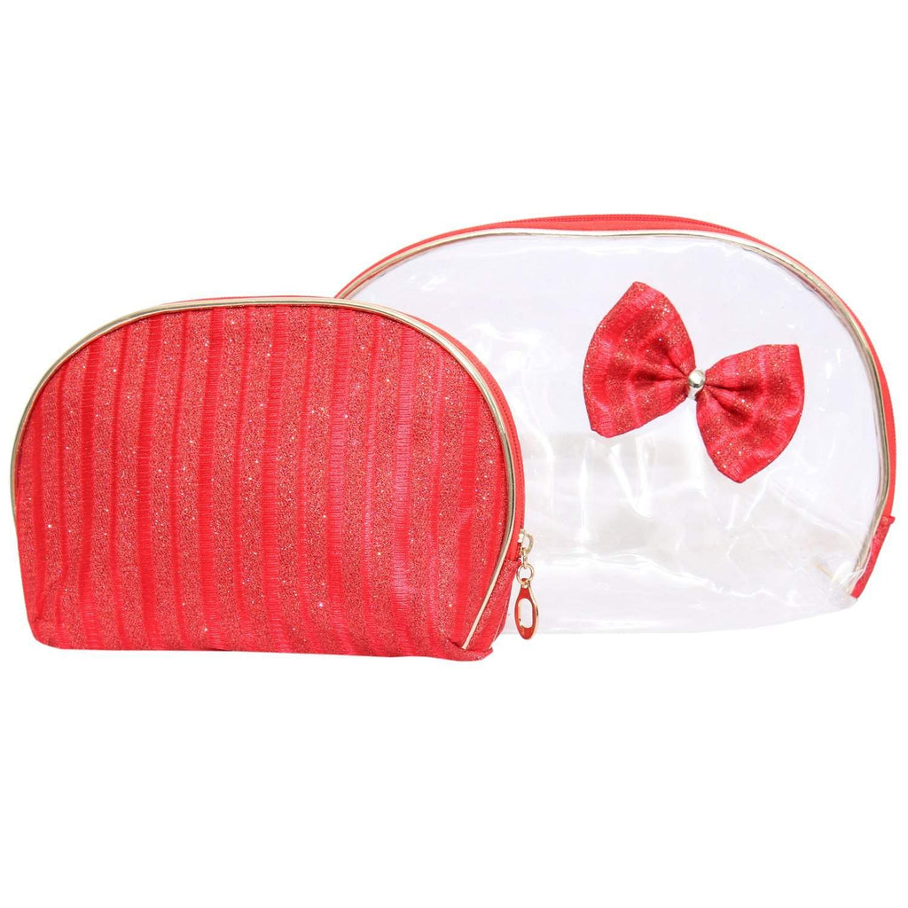 Multipurpose Red Makeup pouch (Set of 2) - Bagaholics Gift
