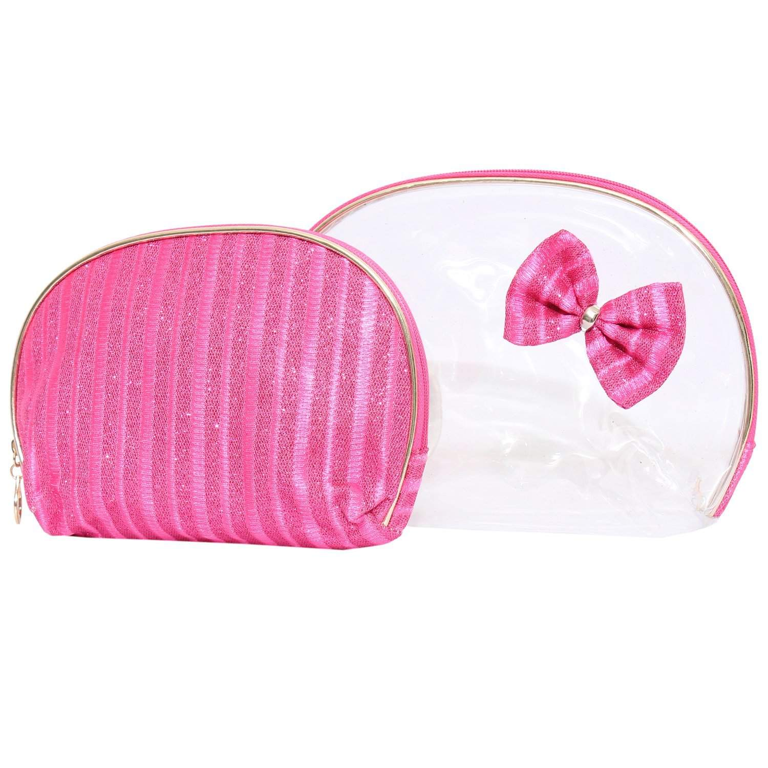 Multipurpose Pink Makeup pouch (Set of 2) - Bagaholics Gift