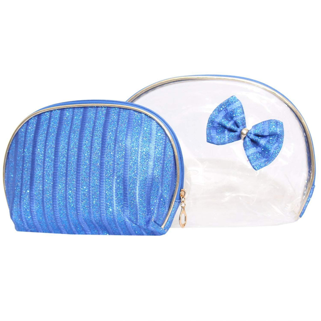 Multipurpose Blue Makeup pouch (Set of 2) - Bagaholics Gift