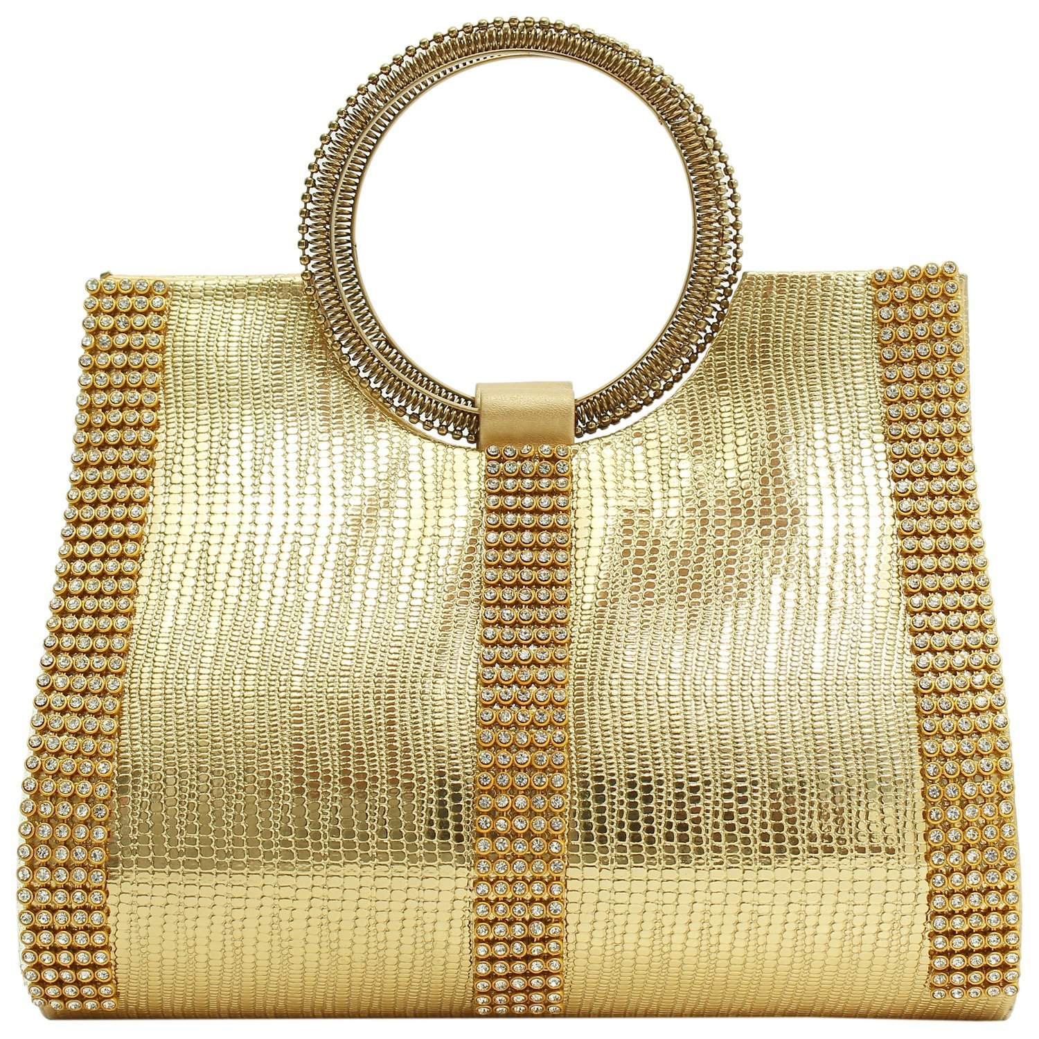 Ethnic Ladies Sling Clutches Side Bag (Gold) - Bagaholics Gift