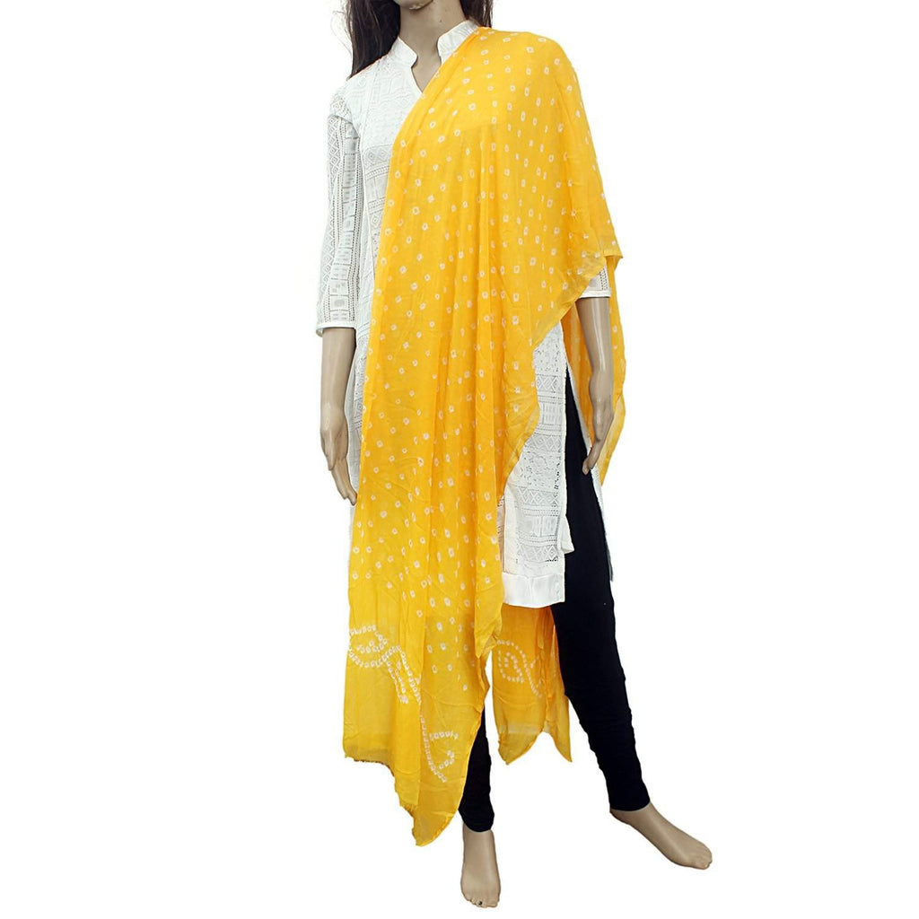 Banjara Bandhani Georgette Dupatta for Women's (Yellow) - Bagaholics Gift