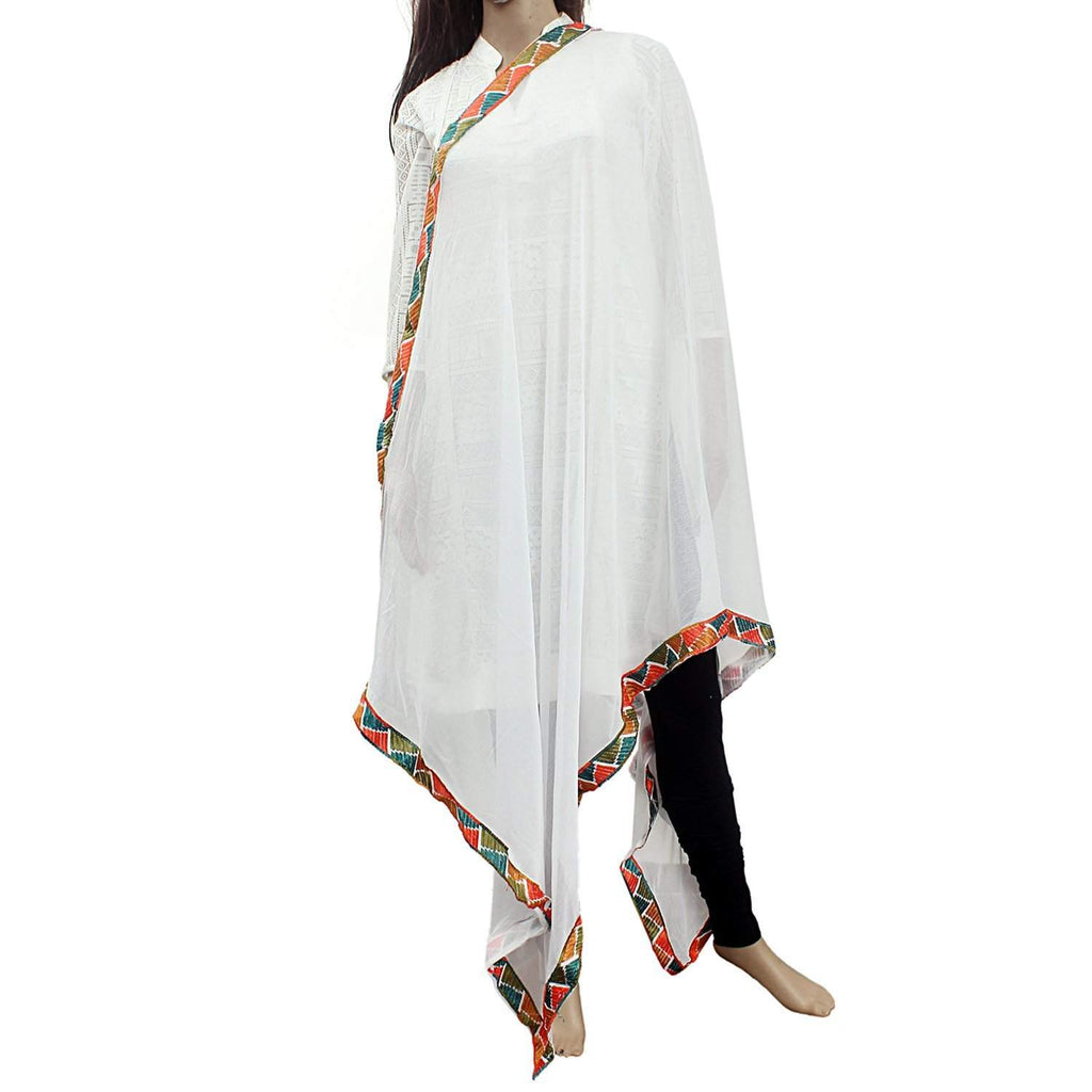 Faux Chiffon Dupatta for Women's (Multicolor - Bagaholics Gift