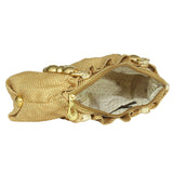 Ethnic Jute Clutch bag (Gold) - Bagaholics Gift