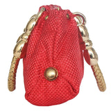 Ethnic Jute Clutch Bag (Red) - Bagaholics Gift