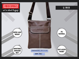 LINO Leather Sling Bag Side Bag - Bagaholics Gift