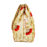 Ethnic Silk Potli Bag Batwa Pouch (Cream)