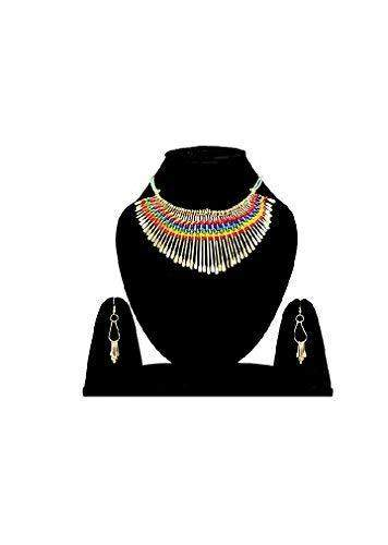Multicolor Non-Precious Metal Choker Necklace