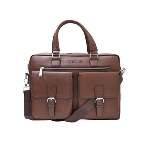 PU Office Bag Laptop Bag (Brown)