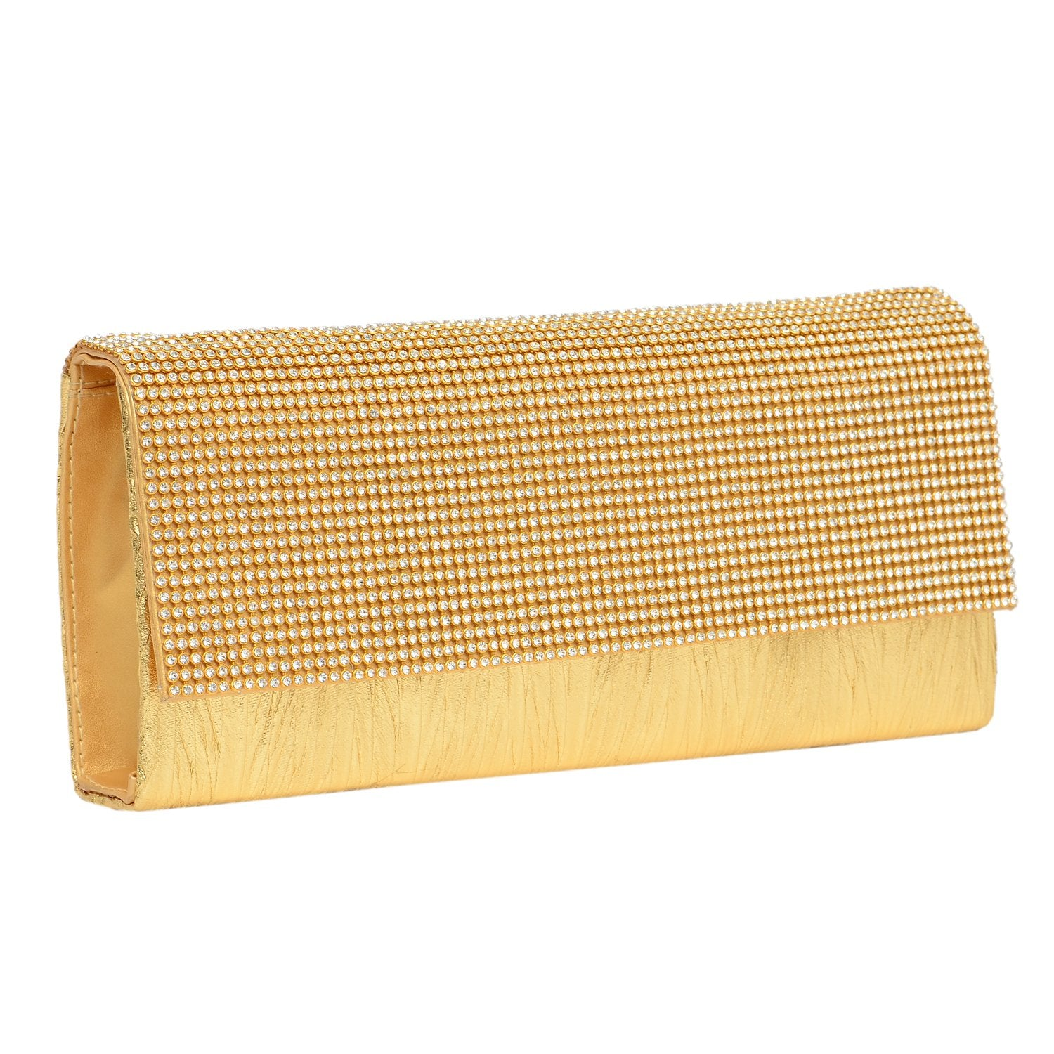 Party wear golden Clutch (Gold) - Bagaholics Gift