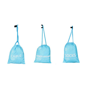 Multipurpose Pouches Set of 3  (Blue)