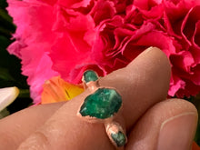 Emerald in resin copper Electroformed ring