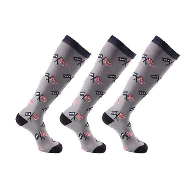 3-pack Patterned Compression Crew Sock (20-30 mmHg)