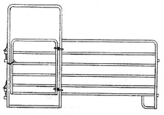 "Combo Panel With Gate - 1 5/8"" Galvanized Tubing"