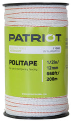 "Polytape 1/2"" - 660' or 1320', white"