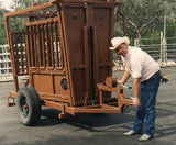 """King Cattle Master"" Portable Chute Trailer"